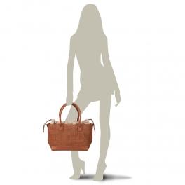 LIZ M Shopper in pelle intrecciata